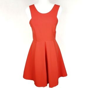 ADELYN RAE Red Fit and Flare Cut Out Dress sz S